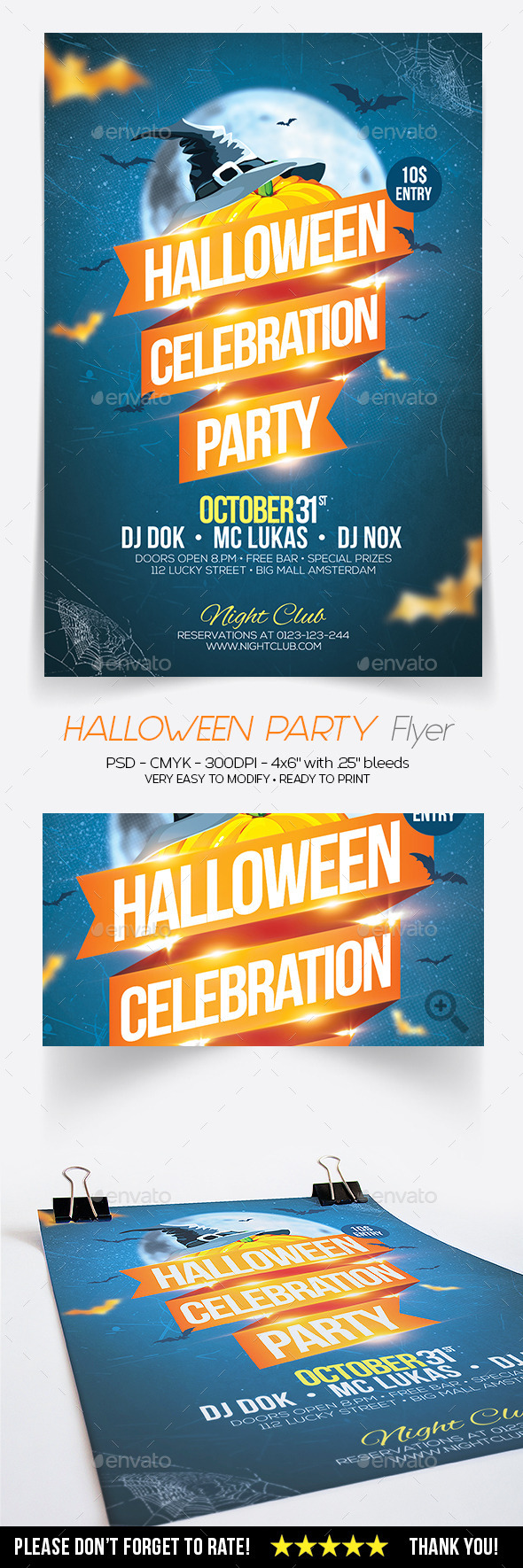 GraphicRiver Halloween Celebration Flyer 9142572