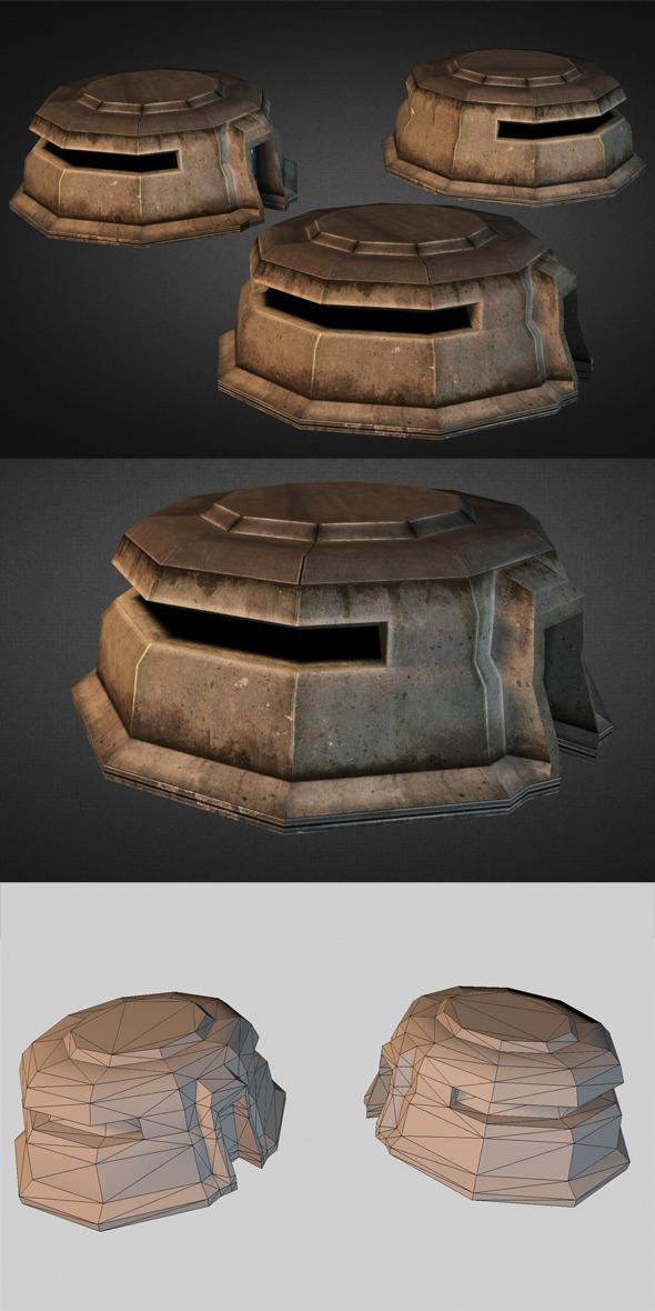 3DOcean Concrete Bunker 9157014