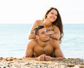 couple  on sand beach - PhotoDune Item for Sale