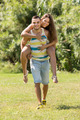 Girl and boyfriend in summer park - PhotoDune Item for Sale