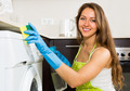 Housewife cleaning washing machine - PhotoDune Item for Sale
