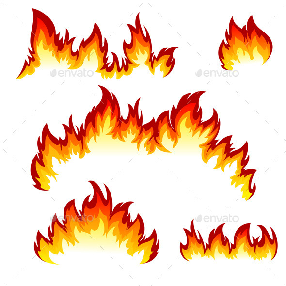 GraphicRiver Set of Flames 9157100