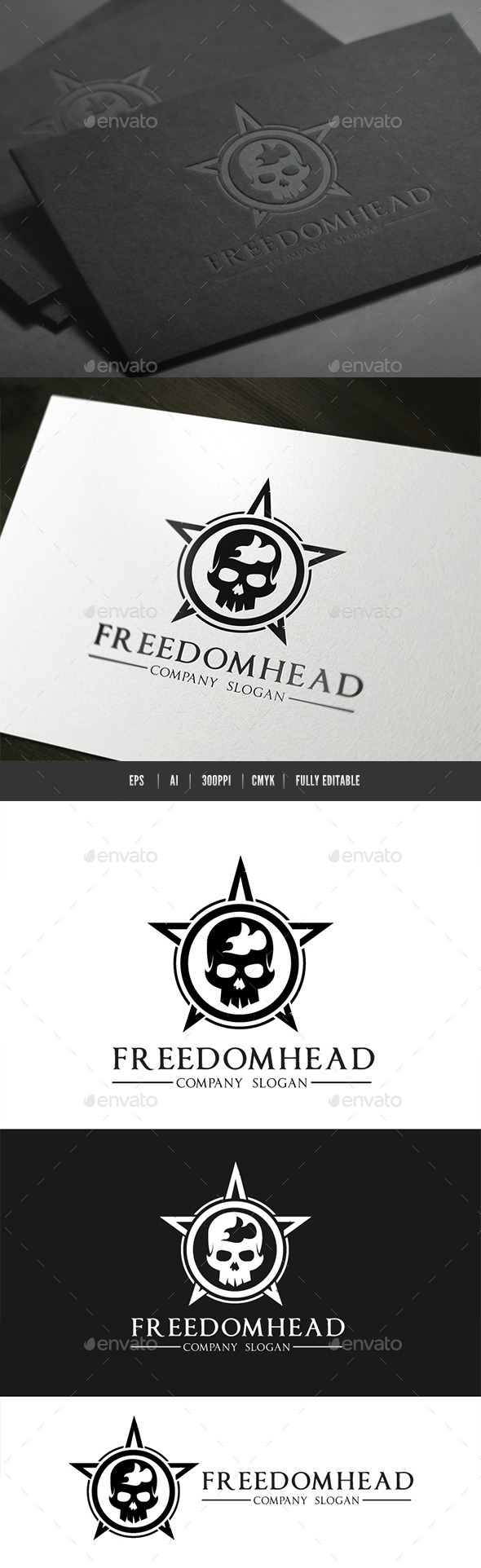 GraphicRiver Freedom Head Logo 9157107