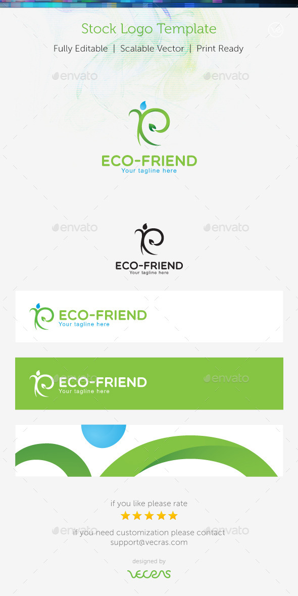 GraphicRiver Eco-Friend Stock Logo Template 9157225