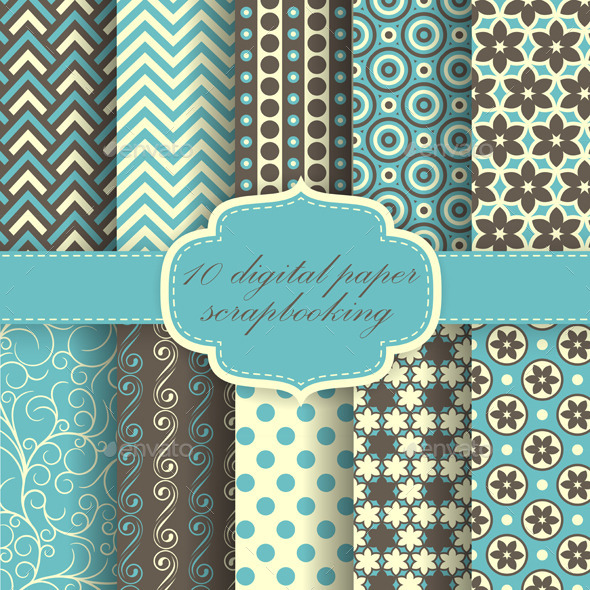 GraphicRiver Set of Paper Patterns 9157227