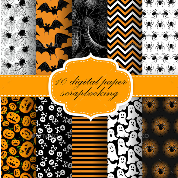 GraphicRiver Halloween Digital Paper 9157230
