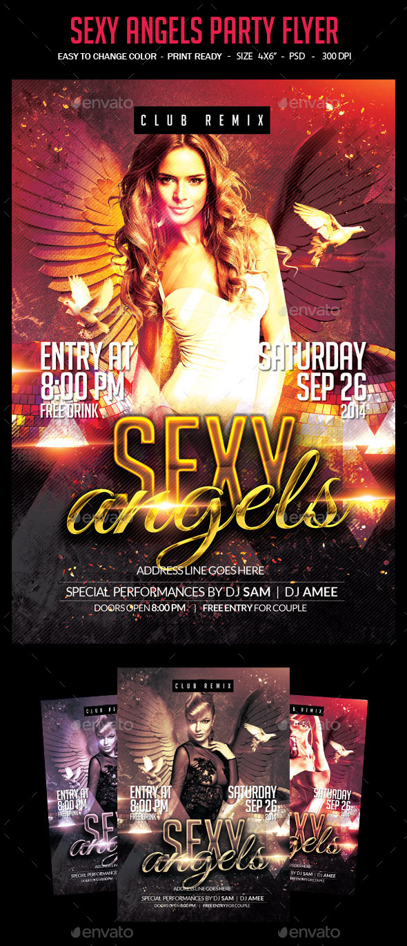 Sexy Angels Party Flyer