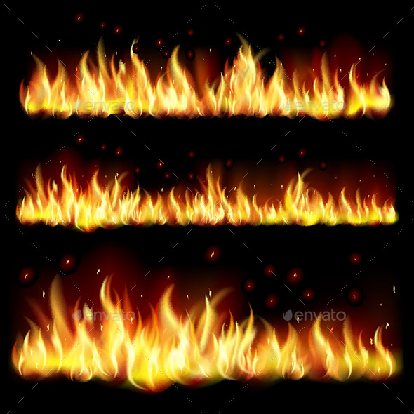 GraphicRiver Background with Flames 9157434
