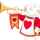 Bunny Royal Trumpeter - GraphicRiver Item for Sale