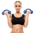 Fitness lady working with dumbbells - PhotoDune Item for Sale