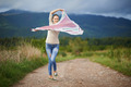Portrait of a young woman outdoor dancing - PhotoDune Item for Sale