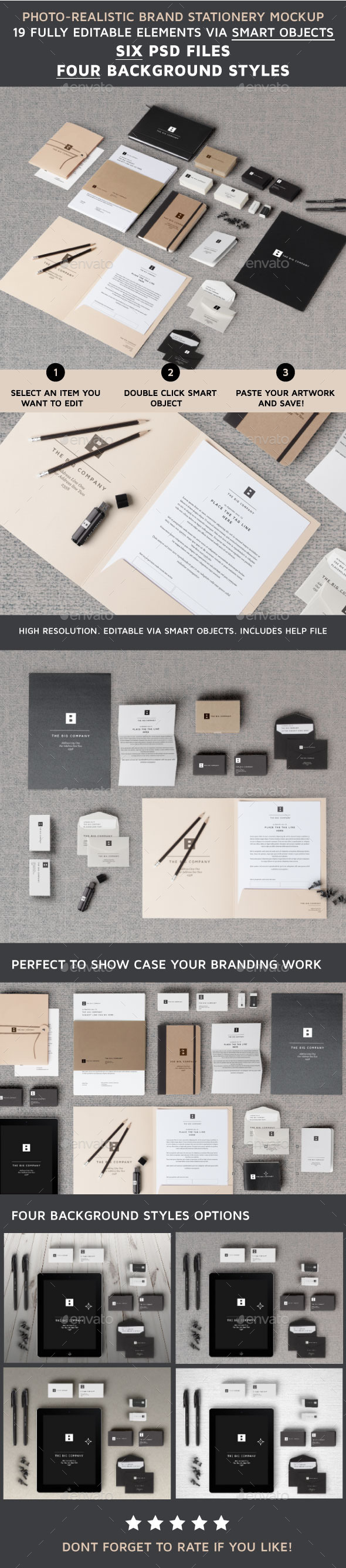 GraphicRiver Brand Stationery Mockup V1 9134952