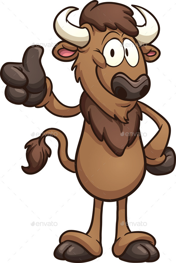 GraphicRiver Cartoon Bison 9158079