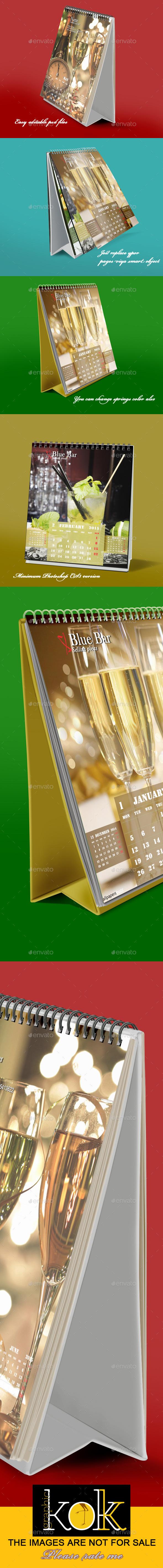 GraphicRiver Desktop Calendar Mockup 9158088
