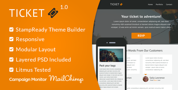 ThemeForest Ticket Responsive Email Template & StampReady 9158112