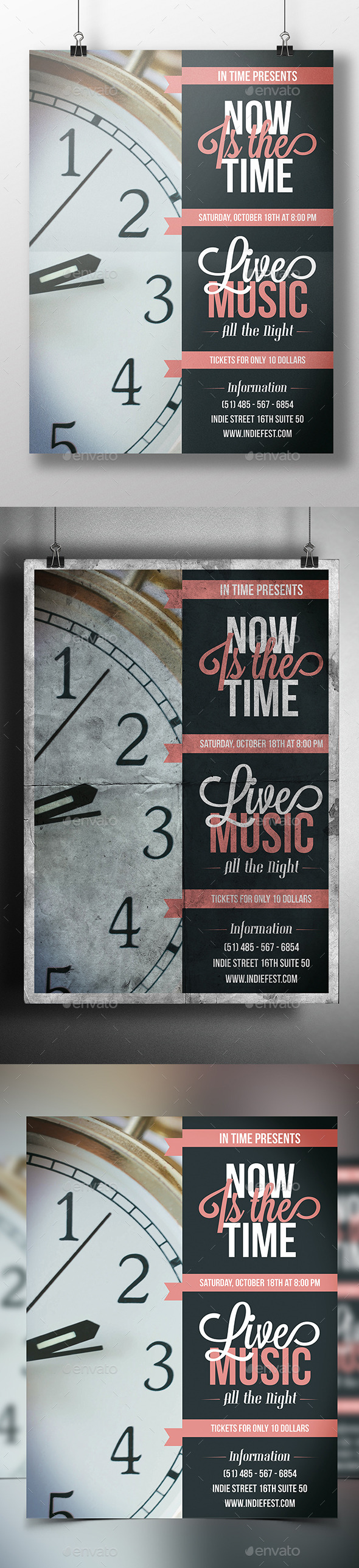 GraphicRiver In Time Flyer Template 9158281