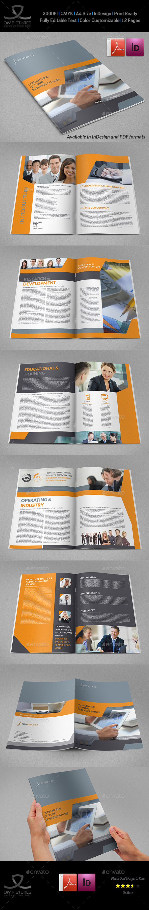 GraphicRiver Corporate Brochure Template Vol.39 12 Pages 9158440