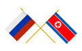 Flags of North Korea and Russia, 3d Render, Isolated - PhotoDune Item for Sale