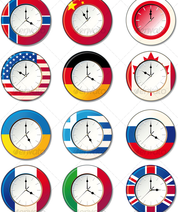 Watch, at which the flags