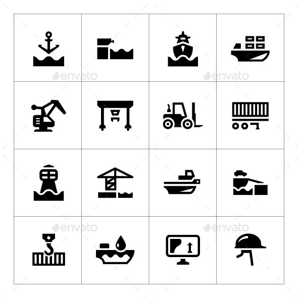 GraphicRiver Set Icons of Seaport 9159033