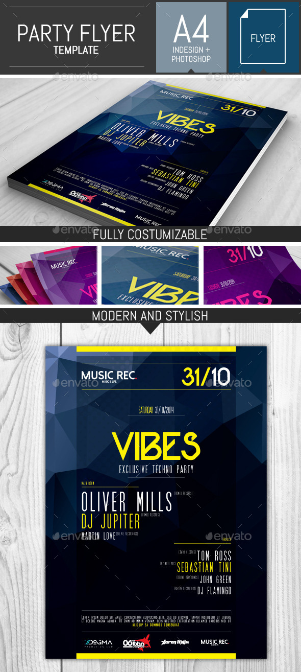 GraphicRiver Electro Party Flyer Template 9159543