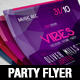 Electro Party Flyer Template - GraphicRiver Item for Sale
