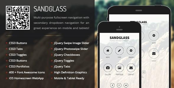 Sandglass | Mobile & Tablet Responsive Template
