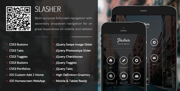 Slasher | Mobile & Tablet Responsive Template