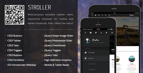 Stroller | Mobile & Tablet Responsive Template - Mobile Site Templates