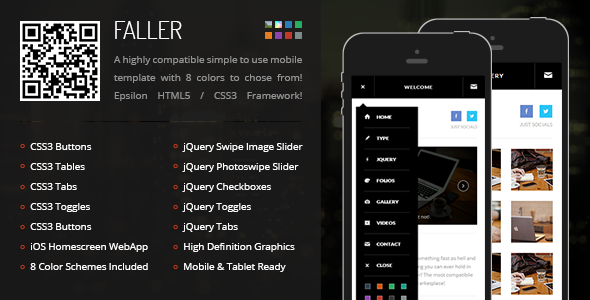 Faller | Mobile Retina HTML5 & CSS3 with WebApp
