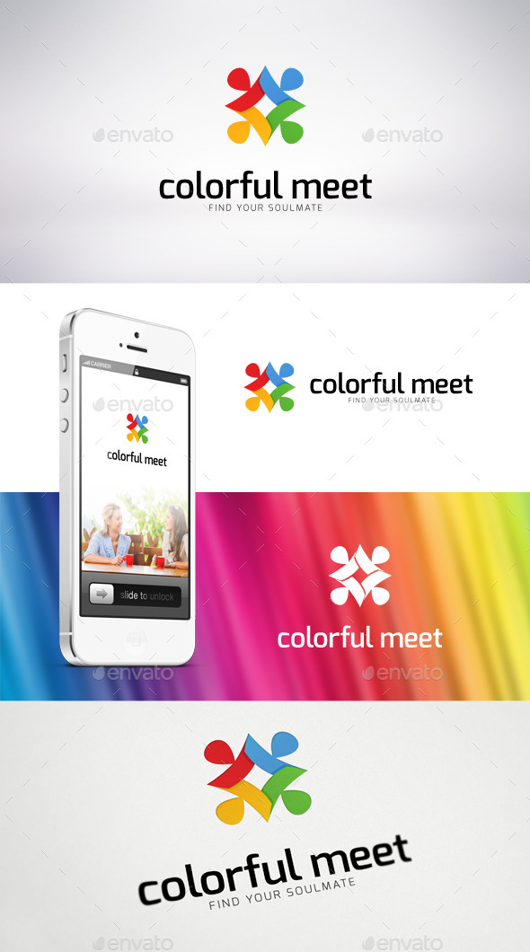 GraphicRiver Colorful Meet Logo Template 9159775