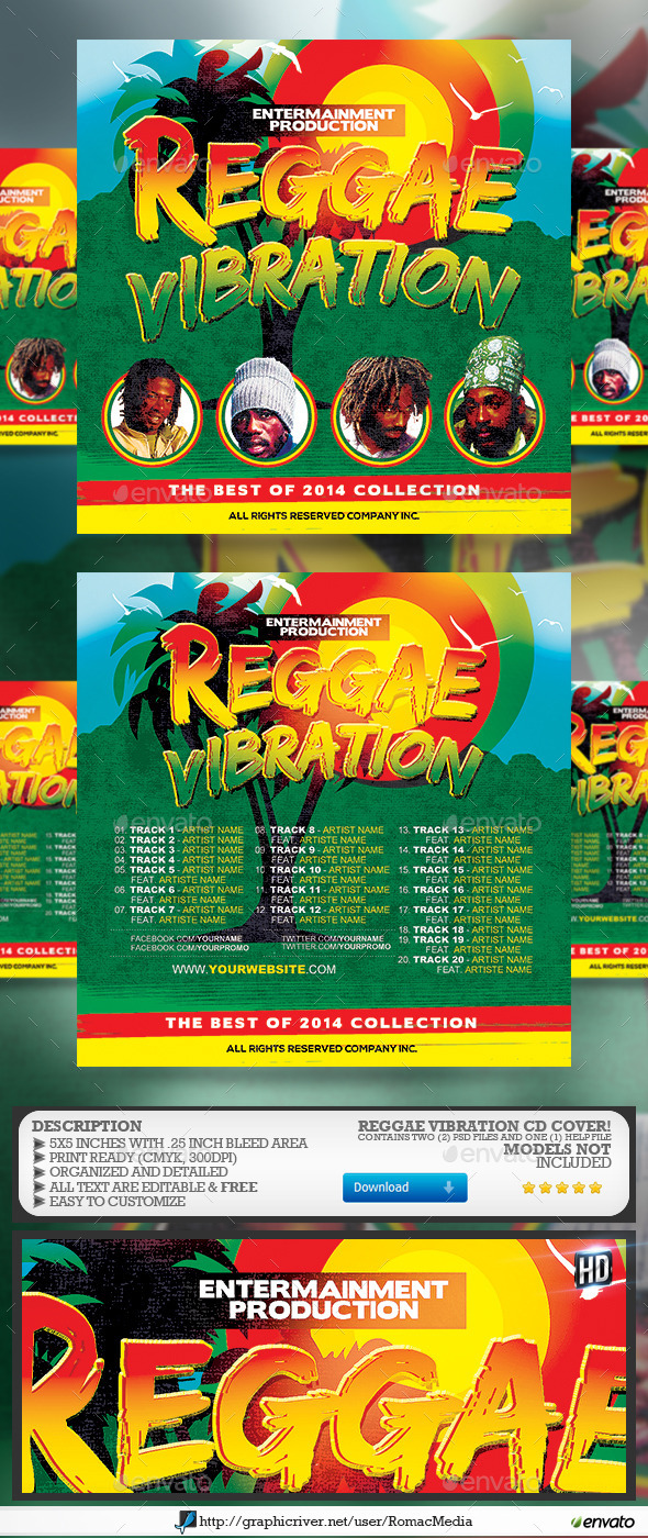 GraphicRiver Reggae Vibration CD Cover 9159783