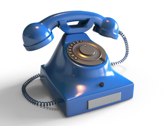 Realistic Rotary Phone - 3DOcean Item for Sale