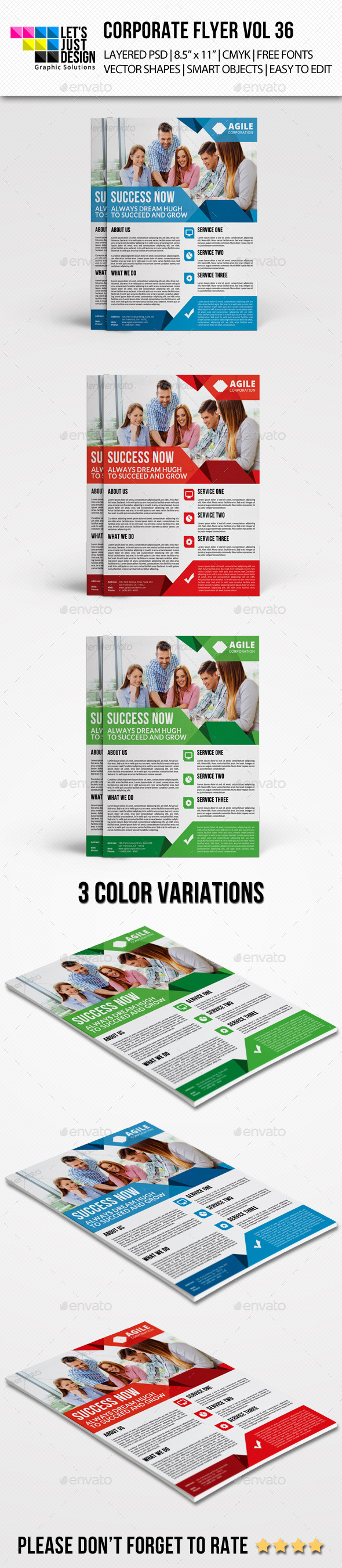 GraphicRiver Corporate Flyer Template Vol 36 9159897
