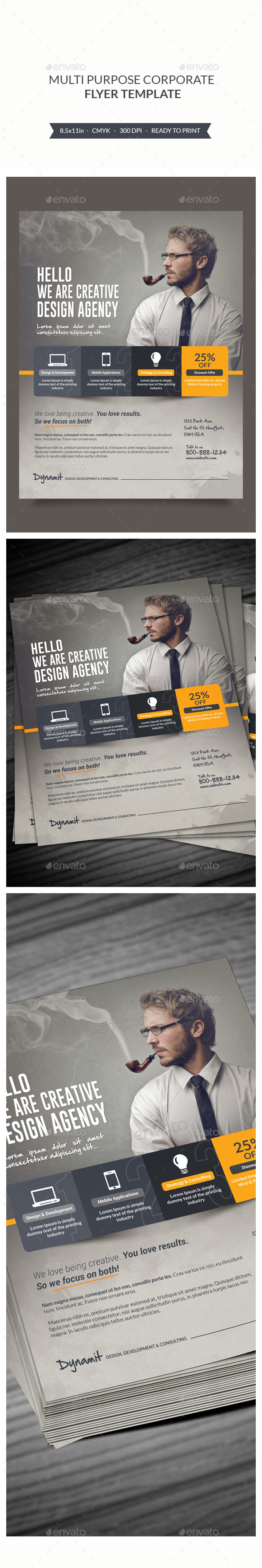 GraphicRiver Multipurpose Corporate Flyer 9146199