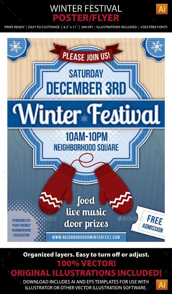 GraphicRiver Winter Festival Poster or Flyer 9160045