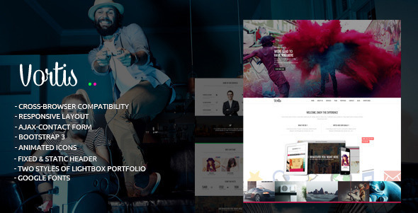ThemeForest Vortis Responsive One Page HTML Template 9150336