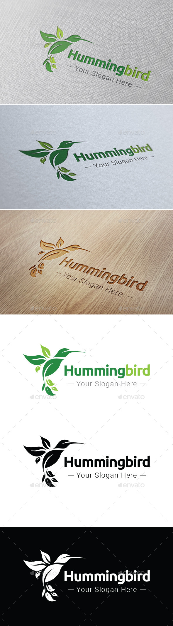 GraphicRiver Hummingbird Logo Template 9160069