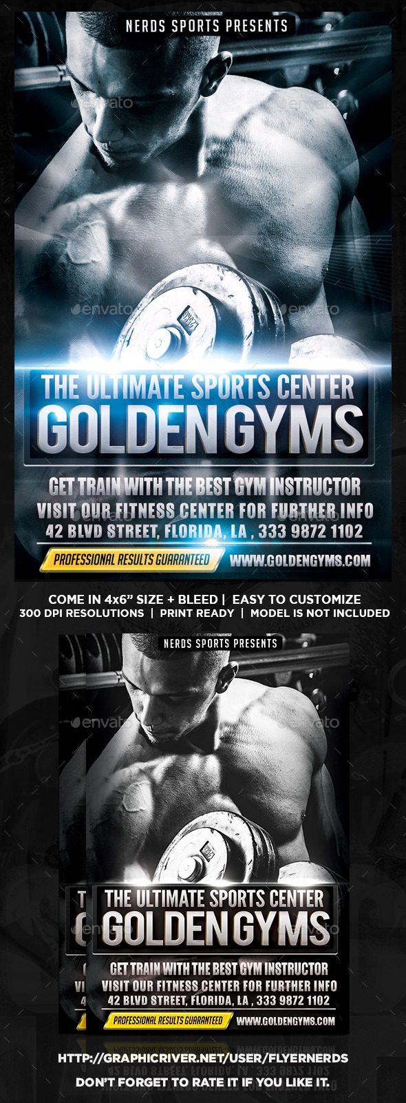GraphicRiver The Gym Sports Flyer 9160175