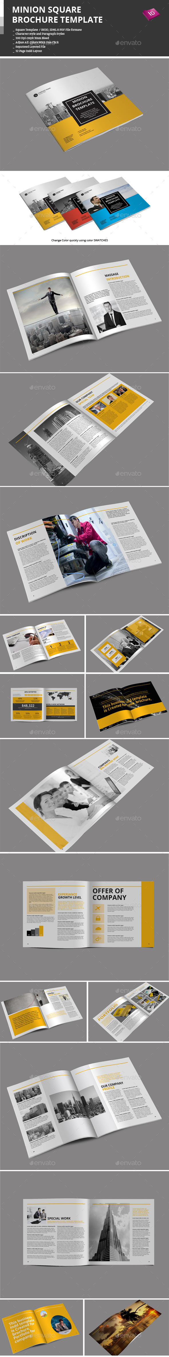GraphicRiver Minion Square Brochure Templates 9160241