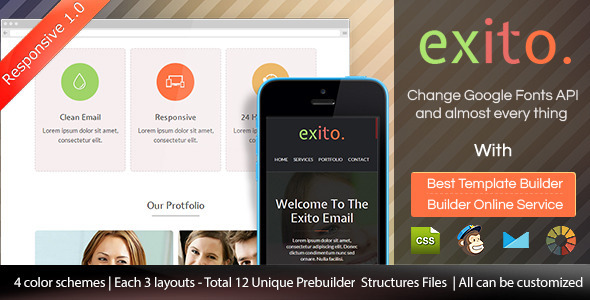 ThemeForest Exito Responsive Email Template With Builder 9160262