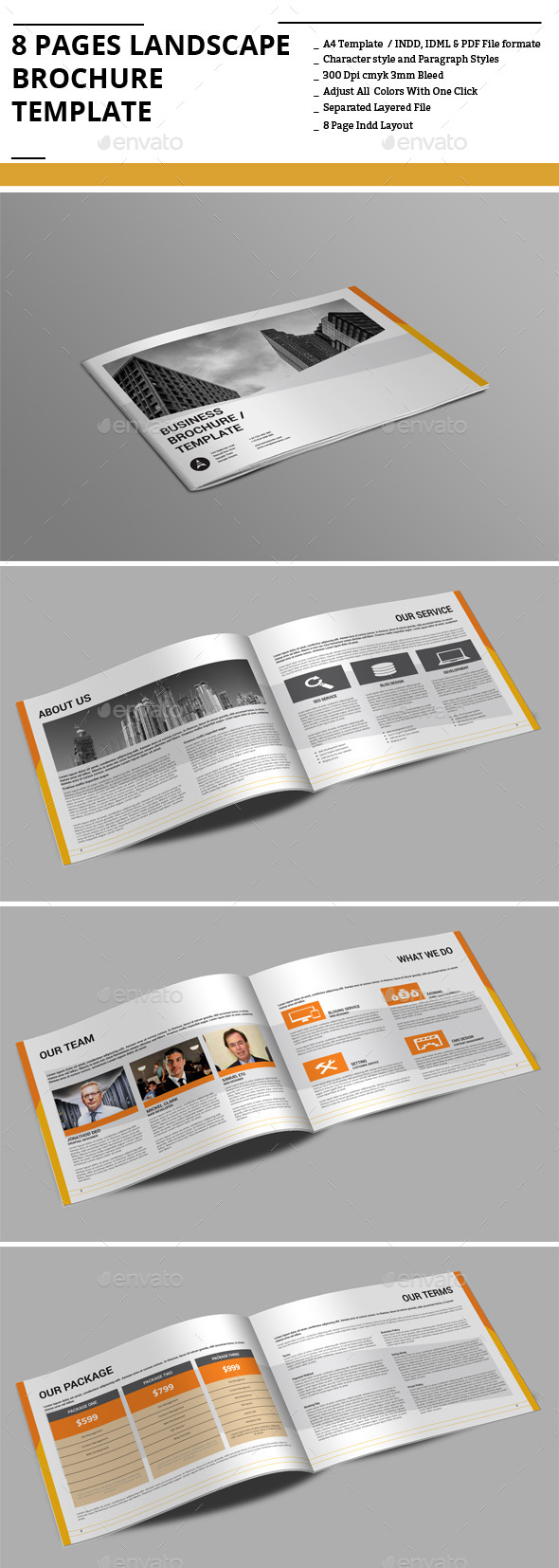 GraphicRiver 8 Pages Landscape sBrochure Template 9160273