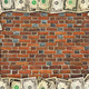wall from the red brick and dollar frame - PhotoDune Item for Sale