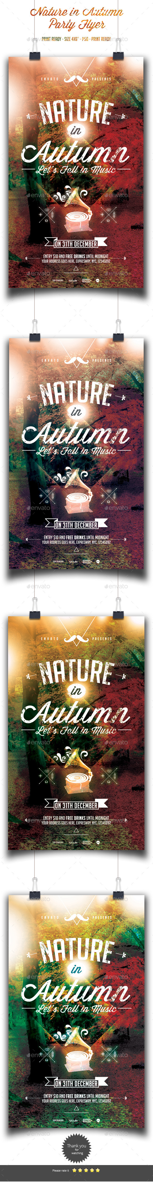 GraphicRiver Nature in Autumn Flyer Template 9160338