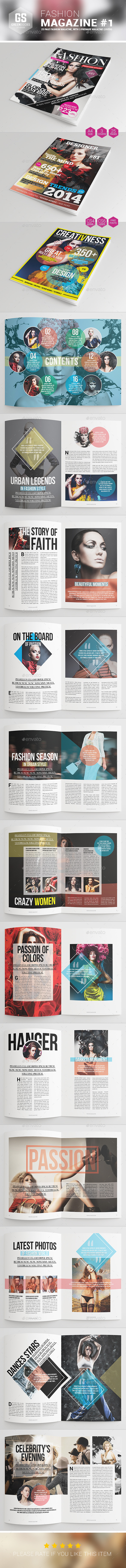 GraphicRiver Fashion Magazine #1 9160403