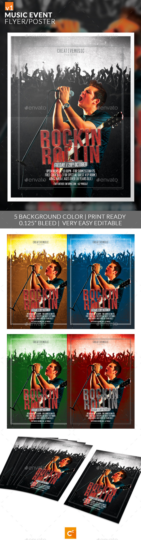 GraphicRiver Music Event Flyer Poster 9160465