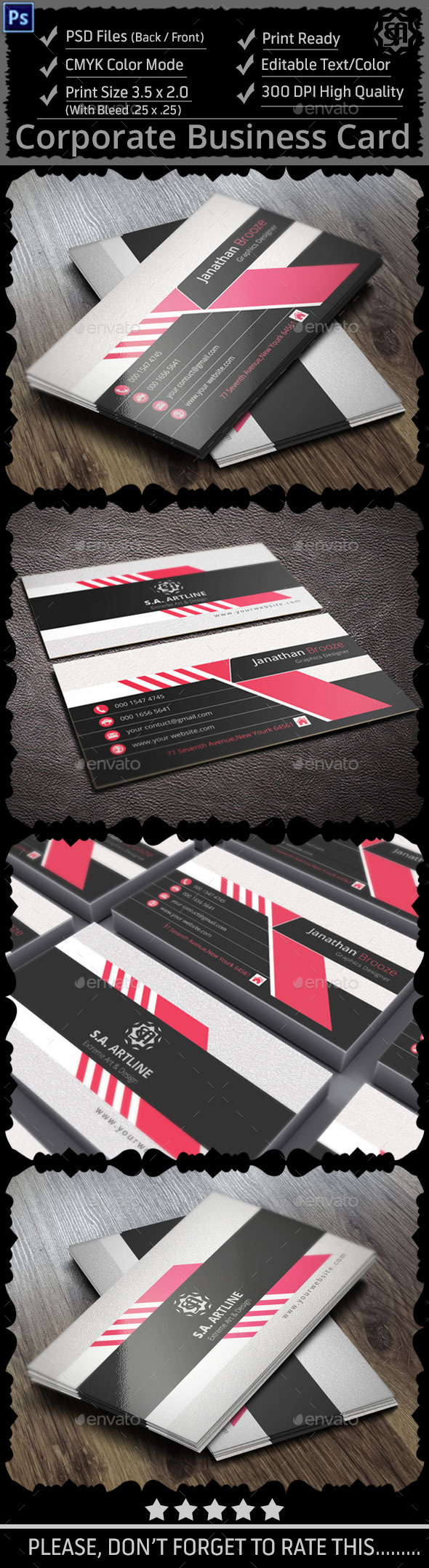 GraphicRiver Clean & Creative Corporate Business Card 9160475