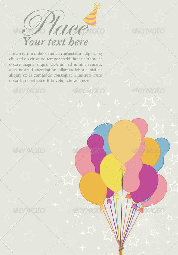 GraphicRiver Birthday Background 935425