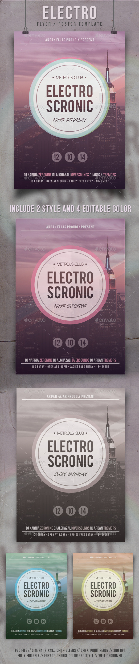 GraphicRiver Minimal Electro Flyer Template 9161347