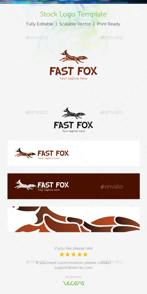 GraphicRiver Fast Fox Stock Logo Template 9161504